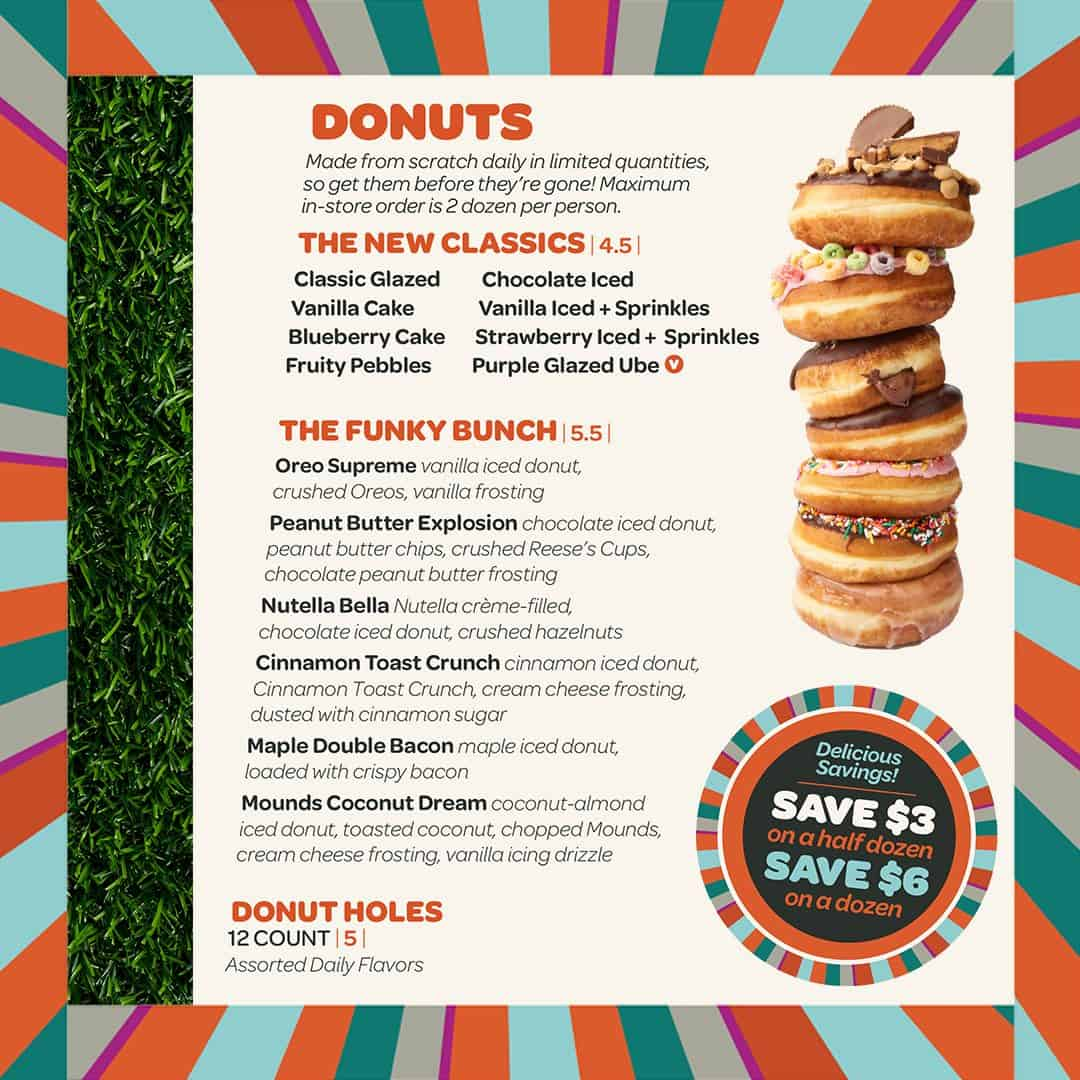 everglazed donuts menu disney springs 1