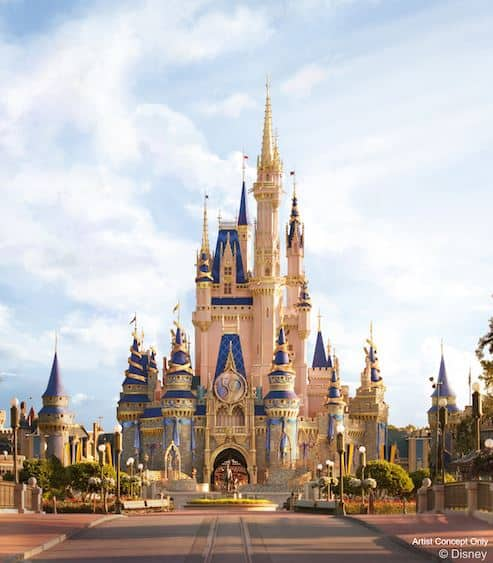 Walt Disney World 50th Celebration Cinderella Castle