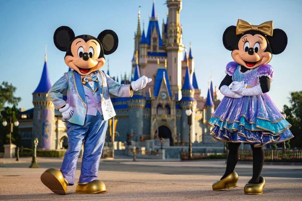 Walt Disney World 50th Celebration Mickey and Minnie New Costumes