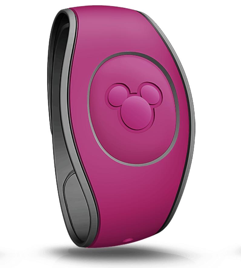 Raspberry Magic Band Walt Disney World