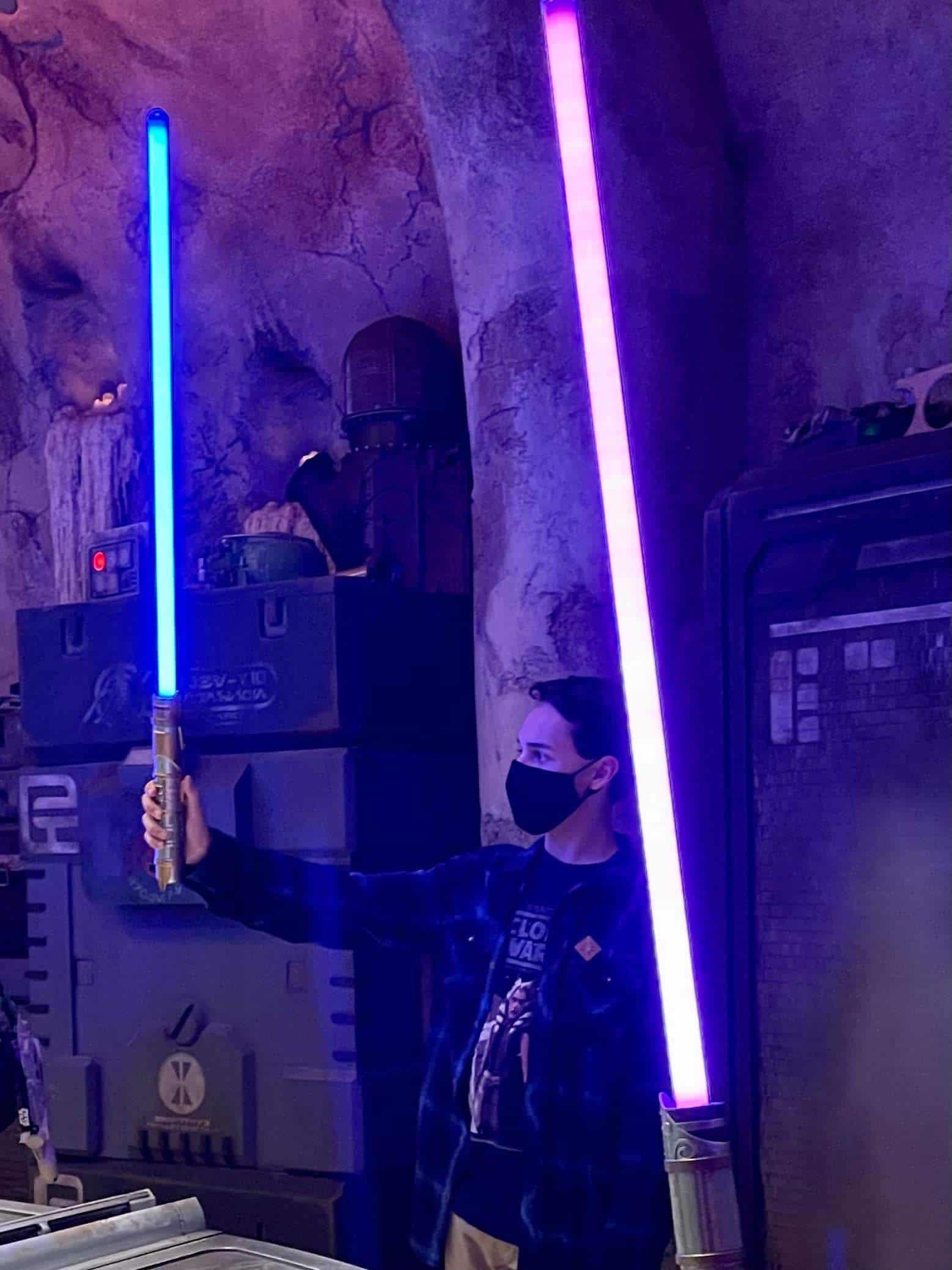 Savi's Workshop at Star Wars Galaxy's Edge Lightsaber Ceremony