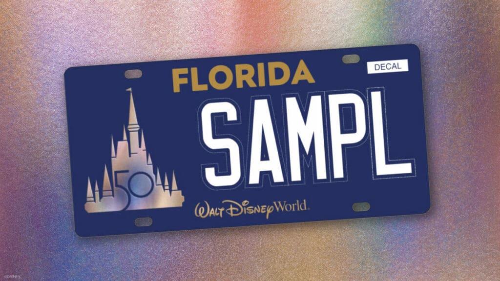 Walt Disney World 50th Anniversary Florida Vanity License Plate