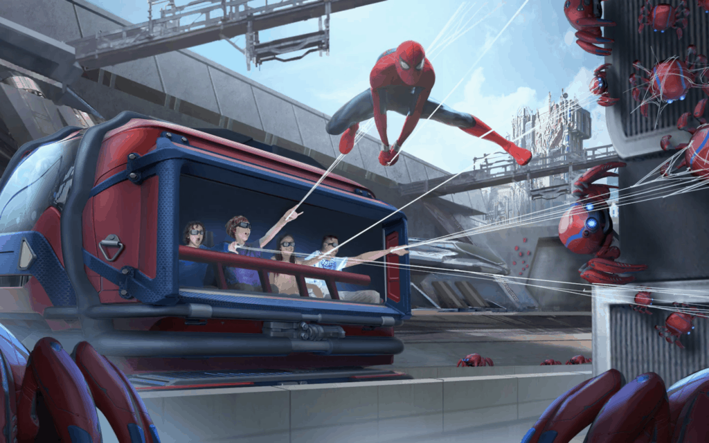 Web Slingers Spider Man Attraction at Avengers Campus