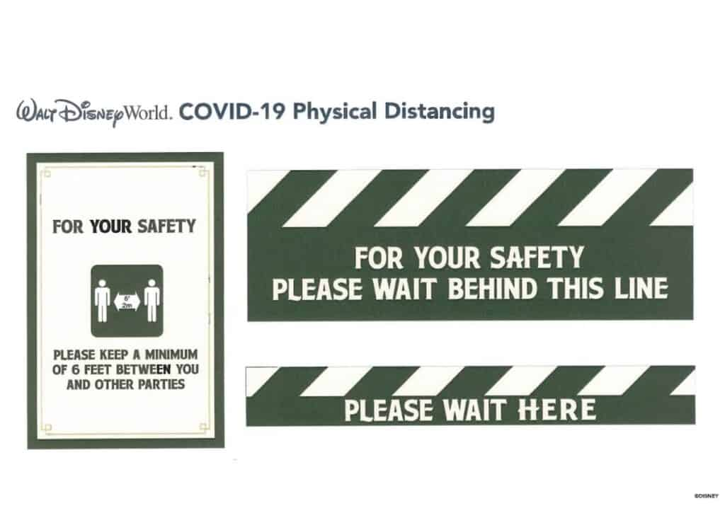 physical-distancing-signs-at-walt-disney-world